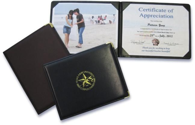 Custom paper certificate holders